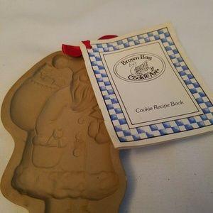 1983 Brown Bag Cookie Mold SANTA